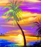 Featured Project: Sunset Painting