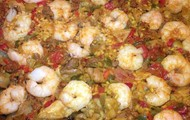 Paella I made with my dad! Yummy!