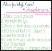 Becoming a Freshman