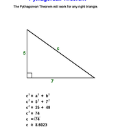 Example Of How To Find C Using the Pythagorean Theorem