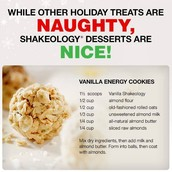 Vanilla Shakeology Cookies!