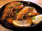 Pan fried crawfish