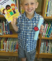 A very proud 4K Graduate from Mrs. Rothmann's Class