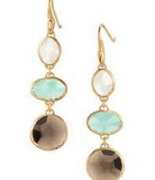 Mila Triple Drop Earrings Gold