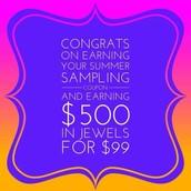 C O N G R A T S on Earning Your Summer Sample Coupon!!