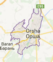 Orsha Belarus Located on a Map