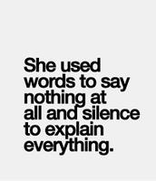 A mi no me gusta hablar.