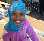 Fartun is all smiles for the 100th Day of School!
