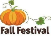 Fall Festival . . . . . . . . . . Thursday 6pm-8pm