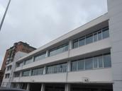 The outside of a school in Spain