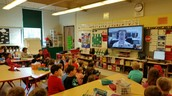 Through Google Hangouts our 1st grade had a field trip!
