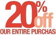 Friends and Family Promotion-Save 20%!