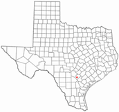 Blank Map of Texas With Erasmo's Settlement Labeled