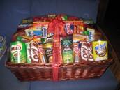 Candy  Raffle Basket