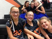 At a volleyball game with friends!
