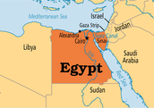 This is how Egypt on the map
