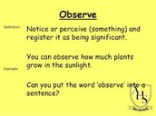 EXAMPLES OF OBSERVE