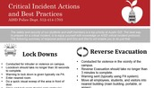 Critical Incident Actions and Best Practices