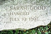 Tombstone of Victim Sarah Good