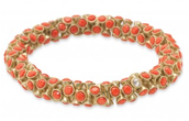 Vintage Twist Bracelet - Coral $20