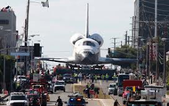 The endeavor being pulled to safety