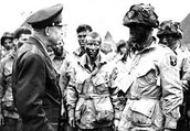 Eisenhower talking to men of the 101st Airborne Division