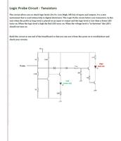 Logic Probe Transistor