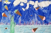 Third Grade Surrealist Landscapes