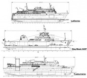 Technical Drawing of a Ferry