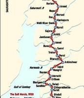 The Salt March Route