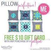 $10 Gift Card with any Pillow purchase!