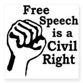 Free speech: Civil right