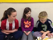 Abby, Estella, and a kindergartener