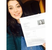 Keaton Jones after earning her license.