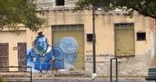 Mucho graffiti
