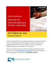 Call for Submissions - Journal for Intedisciplinary Teacher Leadership