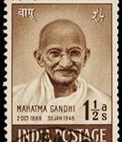 Mahatma Gandhi as a post stamp