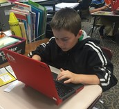 Taking online quizzes and assessments!