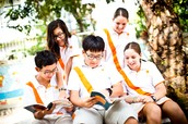Secondary Students Spending Time Reading Books