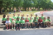 Kindergarten Bubble Day Class Picture!
