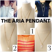 Aria Pendant (also available in silver)
