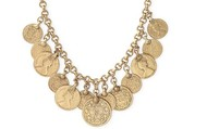 Rio Single Strand Coin Necklace