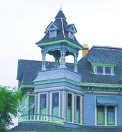 Tall windows and Steep Roof