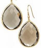 Serenity Stone Drop Earrings (Smoky)