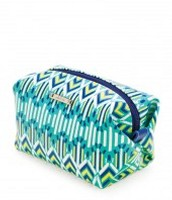 The Spring Green Ikat Pouf