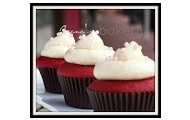 choclate cupcakes with white frosting