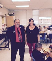 Mr. Ralph Mora poses with Ms. Burge