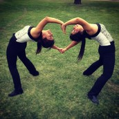 Ashley & Karen forming a heart <3