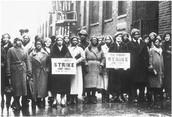 People striking against jobs in the 1930s