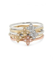 Moraley Flower Stackable Rings